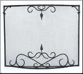 Single Panel Bostonian Curved Fireplace Screen (SKU: GSB-)