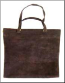 Dark Brown Suede Leather Firewood Carrier (SKU: LCR-06C)