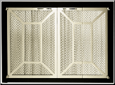 Ovation II Masonry Fireplace Screen - Available in Standard And Custom Sizes - Choice of 28 Finishes (ADD CODE) (SKU: PW Ovation PRISM)