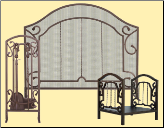 Bronze Arched Top Fireplace Package Set (SKU: PAK-FSW-16-050911)