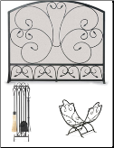 Country Scroll Fireplace Package Set