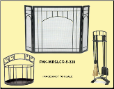 Arches Fireplace Package Set (SKU: PAK-WRSLCR-5-220)