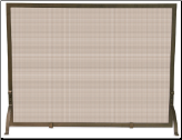 Single Panel Bronze Fireplace Screen (SKU: S-1642)