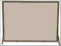 Single Panel Bronze Fireplace Screen