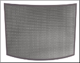 Single Panel Curved Bronze Fireplace Screen (SKU: S-1667)
