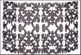 4 Fold Bronze Cast Aluminum Fireplace Screen (SKU: S-5804)
