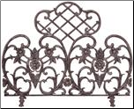 Single panel Bronze Cast Aluminum Fireplace Screen