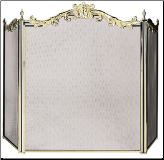 3 Panel Cast Solid Brass Fireplace Screen (SKU: S-9668)
