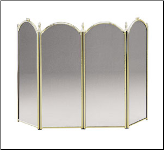 Plated Brass Four-Fold Fireplace Screen (SKU: SCR-01)