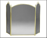 Solid Brass Three-Fold Fireplace Screen (SKU: SCR-06)