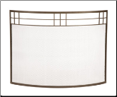 Single Panel Arts & Crafts Curved Fireplace Screen (SKU: SS-36Z)