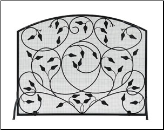 Leaves Fireplace Screens (SKU: SS-37)