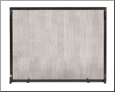 Black Fireplace Screen Set (SKU: S -)