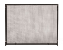 Neoclassic Colonial Graphite Fireplace Screen Set