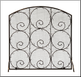 Twigs Flat Fireplace Screen (SKU: SS-41)