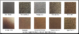 SAMPLE PORTLAND WILLAMETTE FINISHES (SKU: PW FINISHES)