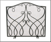 Williamsburg Cypher Flat Fireplace Screen (SKU: VS21-)