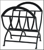 Black Wrought Iron Log Rack (SKU: W-1038)