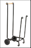 Large Black Log Rack With Wheels (SKU: W-1151)