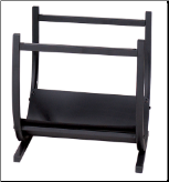 Black Wrought Iron Fireplace Log Rack (SKU: W-1185)