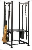 Olde World Iron Log Rack With Tools (SKU: W-1198)