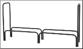 "Black 60"" Long Log Rack (SKU: W-1560)"