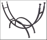 Contemporary Black Log Rack (SKU: W-1859)