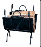 DELUXE WROUGHT IRON LOG HOLDER  (SKU: W-1866)