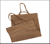 Brown Suede Leather Firewood Carrier (SKU: W-1880)
