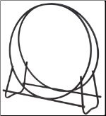 "Black 40"" Diameter Tubular Log Hoop (SKU: W-1881)"