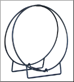 "Black 24"" & 36"" Diameter Log Hoops (SKU: W-18)"