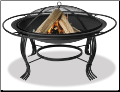 Uniflame Black Outdoor Firepit with Outer Ring (SKU: WAD1050SP)