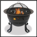 OIL RUBBED BRONZE OUTDOOR FIREBOWL WITH STARS AND MOONS DESIGN (SKU: WAD1081SP)