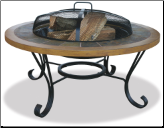 Uniflame Slate and Faux Wood Outdoor Fireplace (SKU: WAD1358SP)