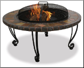 Uniflame Slate and Marble w/Copper Outdoor Fireplace (SKU: WAD820SP)