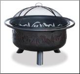 Uniflame Oil Rubbed Bronze Outdoor Fireplace (SKU: WAD900SP)