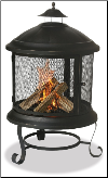 Uniflame Black Outdoor Firepit/Firehouse  (SKU: WAF901SP)