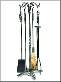 Large Leaf Fireplace Tool Set (SKU: WR-01)