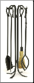 5 Piece Hearth Hook Fireplace Tools (SKU: WR-27)