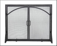 Fireplace Screen with Arched Doors