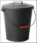 Black Ash Bin with Lid (SKU: C-1709B)