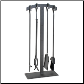 5 Piece Pilgrim Shadow Fireplace Tools (SKU: 18089)