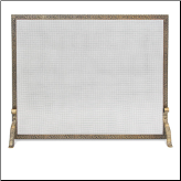 Single Panel Bay Branch Embossed Flat Fireplace Screen (SKU: 1825)