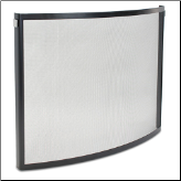 Bowed Odessa Fireplace Screen (SKU: 18256)