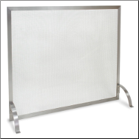 Newport Single Panel Stainless Steel Fireplace Screen