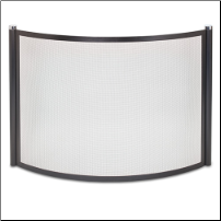 Bowed Metro Fireplace Screen