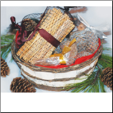 Medium Fire Starter Oval Birch Basket Sampler (SKU: 10292)