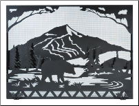Bear Creek Flat Fireplace Screen