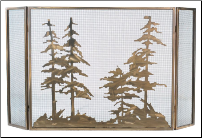 Tall Pines 3 Piece Folding Fireplace Screen