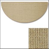 Sunset Natural Sisal Half Round Rug (SKU: 10890)